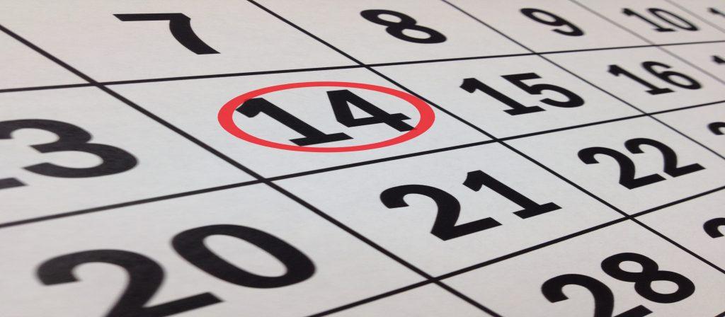 14th on a Calendar