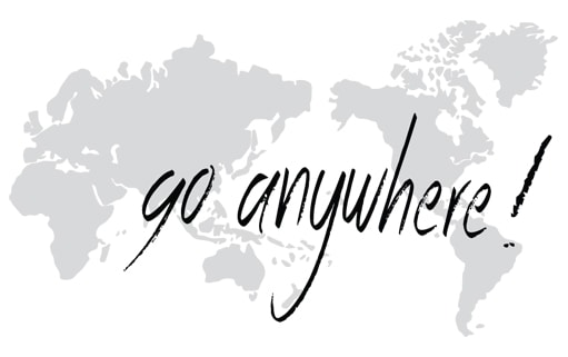 World map with