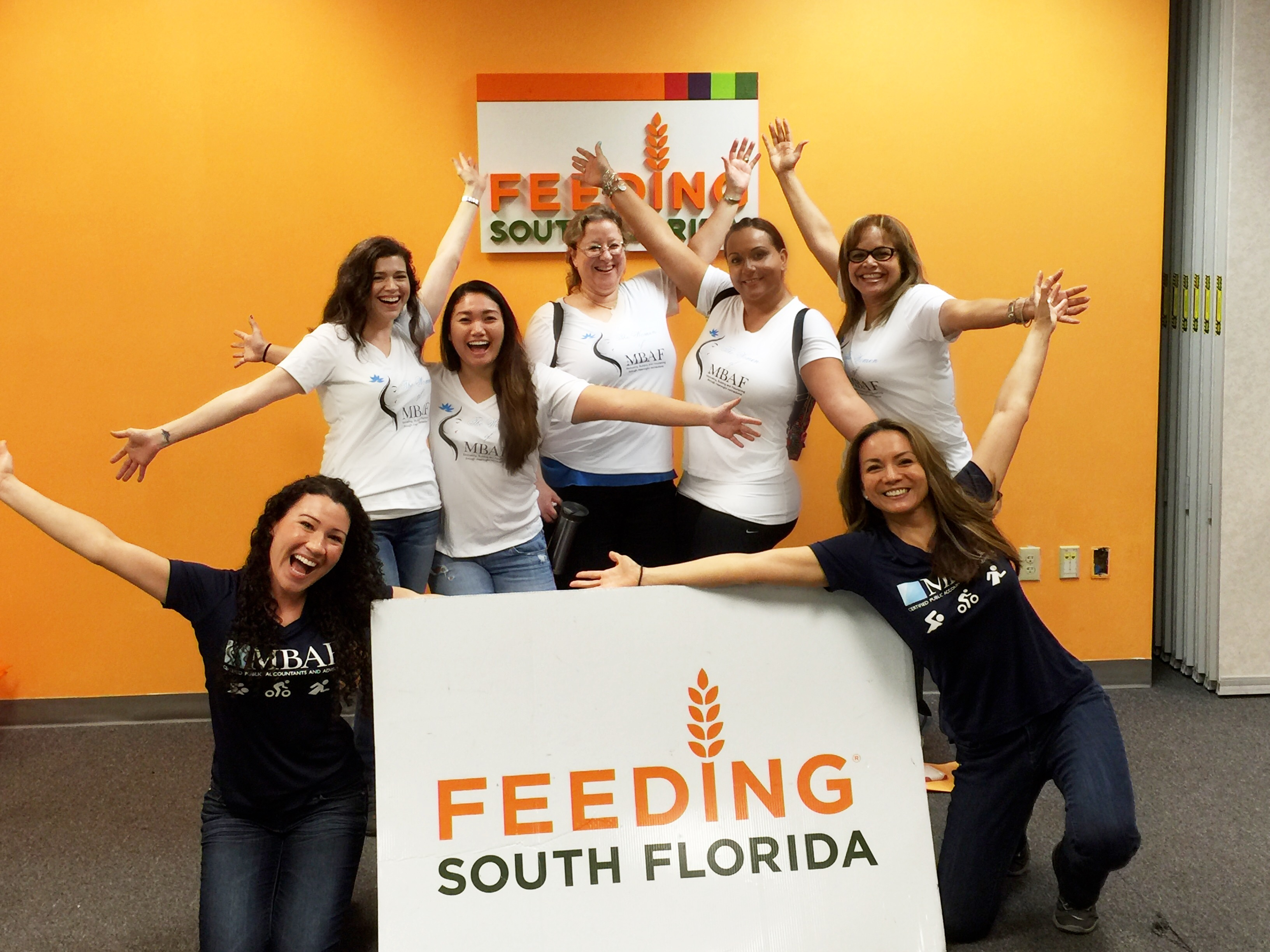 The team volunteering at Feeding South Florida!