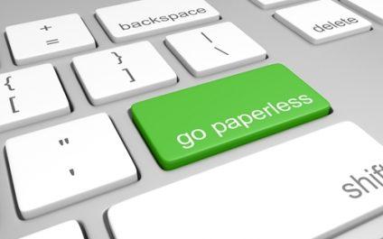 Advantages of using less paper
