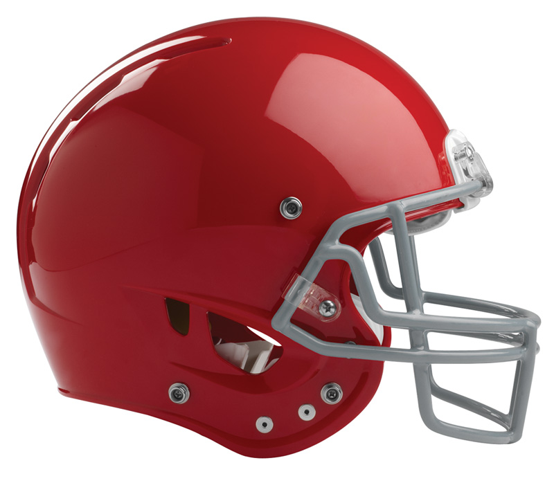 red-football-helmet
