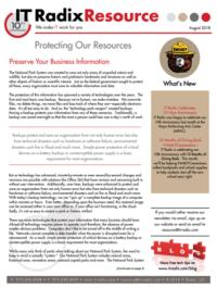 August 2018 IT Radix Resource Newsletter