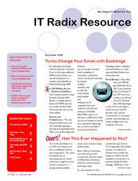 Fall 2008 IT Radix Resource Newsletter
