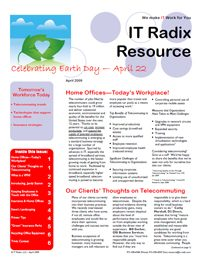 Spring 2009 IT Radix Resource Newsletter