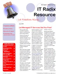 Summer 2009 IT Radix Resource Newsletter