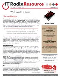 September 2017 IT Radix Resource Newsletter