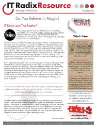 November 2017 IT Radix Resource Newsletter