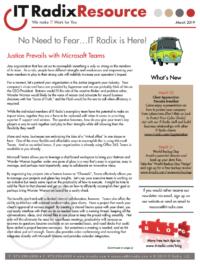 March 2019 IT Radix Resource Newsletter
