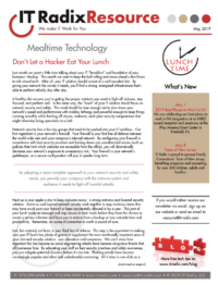 May 2019 IT Radix Resource Newsletter