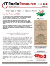 February 2019 IT Radix Resource Newsletter