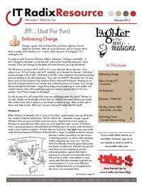 February 2015 IT Radix Resource Newsletter
