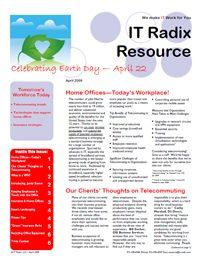Spring 2009 IT Radix Resource Newsletter
