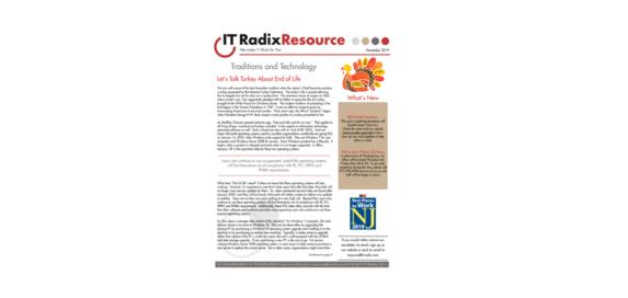 November 2019 IT Radix Resource Newsletter
