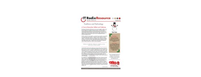 December 2019 IT Radix Resource Newsletter