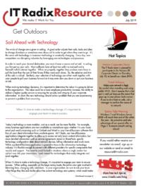 July 2019 IT Radix Resource Newsletter