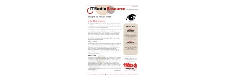 March 2020 IT Radix Resource Newsletter