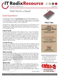 August 2017 IT Radix Resource Newsletter
