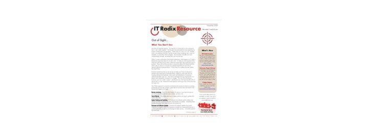 November 2020 IT Radix Resource Newsletter
