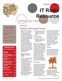 Fall 2009 IT Radix Resource Newsletter