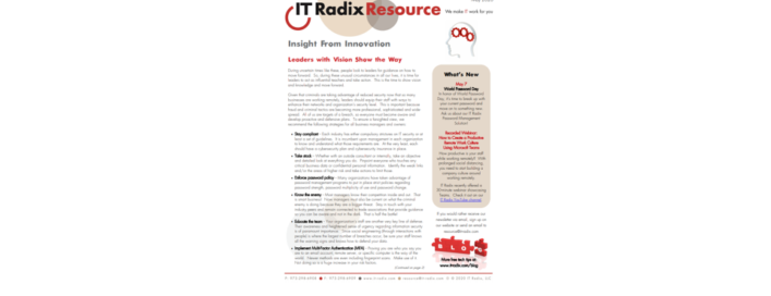 May 2020 IT Radix Resource Newsletter