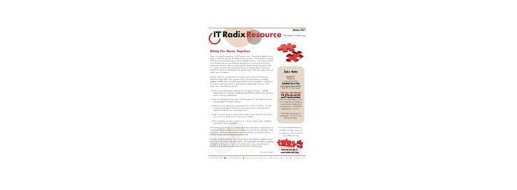 January 2021 IT Radix Resource Newsletter