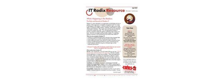 April 2021 IT Radix Resource Newsletter