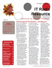 Fall 2010 IT Radix Resource Newsletter