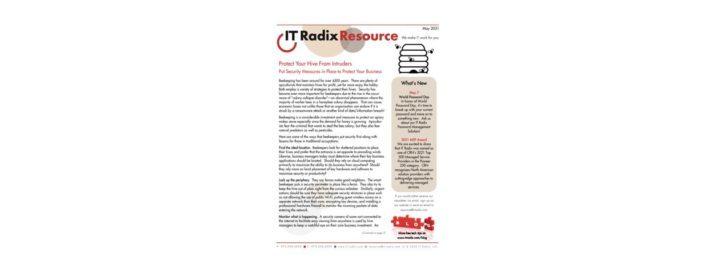May 2021 IT Radix Resource Newsletter