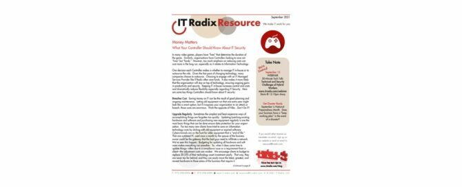 September 2021 IT Radix Resource Newsletter