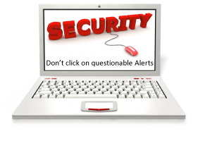 IT Security Tip #14: If this type of alert pops up, DON'T click on it!