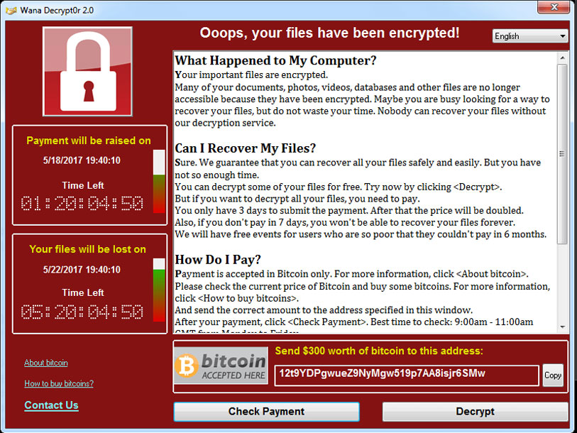 Ransomware-message