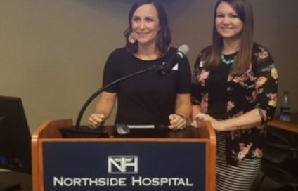 Brooks and Tracy presenting at the Bariatric Conference for Northside