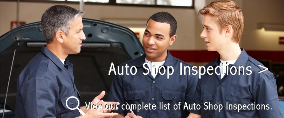 Auto Shop Inspections