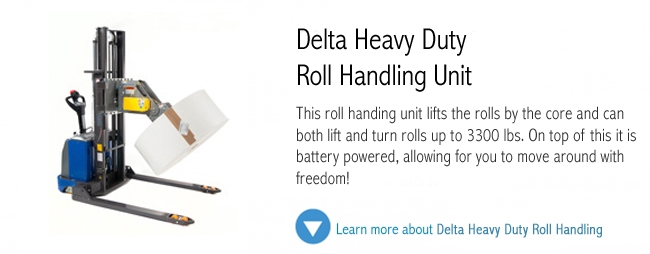Delta PT20X Heavy Duty Lift and Turn Roll Handling