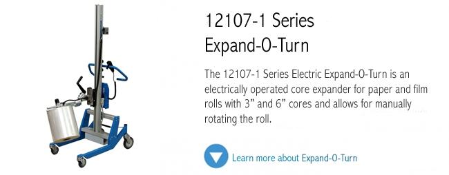 12107-1 Series Expand-O-Turn roll handling unit