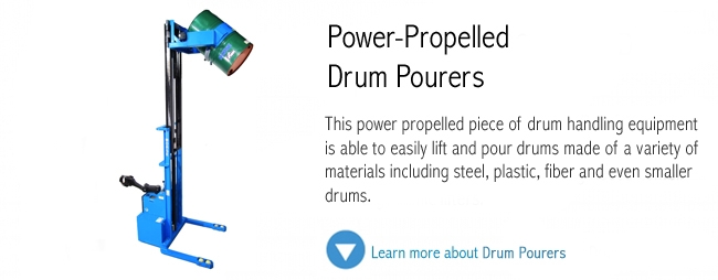Power Propelled Drum Pourer