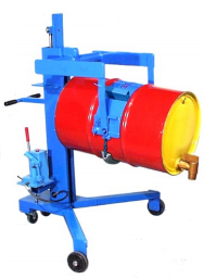 Drum Palletiser that Pours
