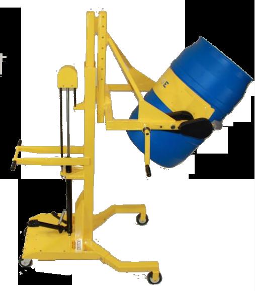 Manual Clamp/Forward Rotation Drum Dumpers