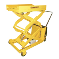 Portable Foot Pump Double Scissor Lifts