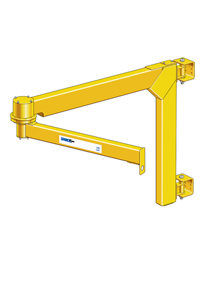 Wall-Mounted Articulating Jib Crane