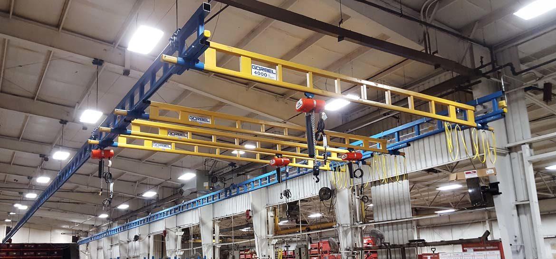 Enclosed Track Bridge Cranes