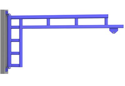 Wall Cantilever Work Station Jib Crane