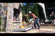 Vacuum Stone Handling – Outdoor Application