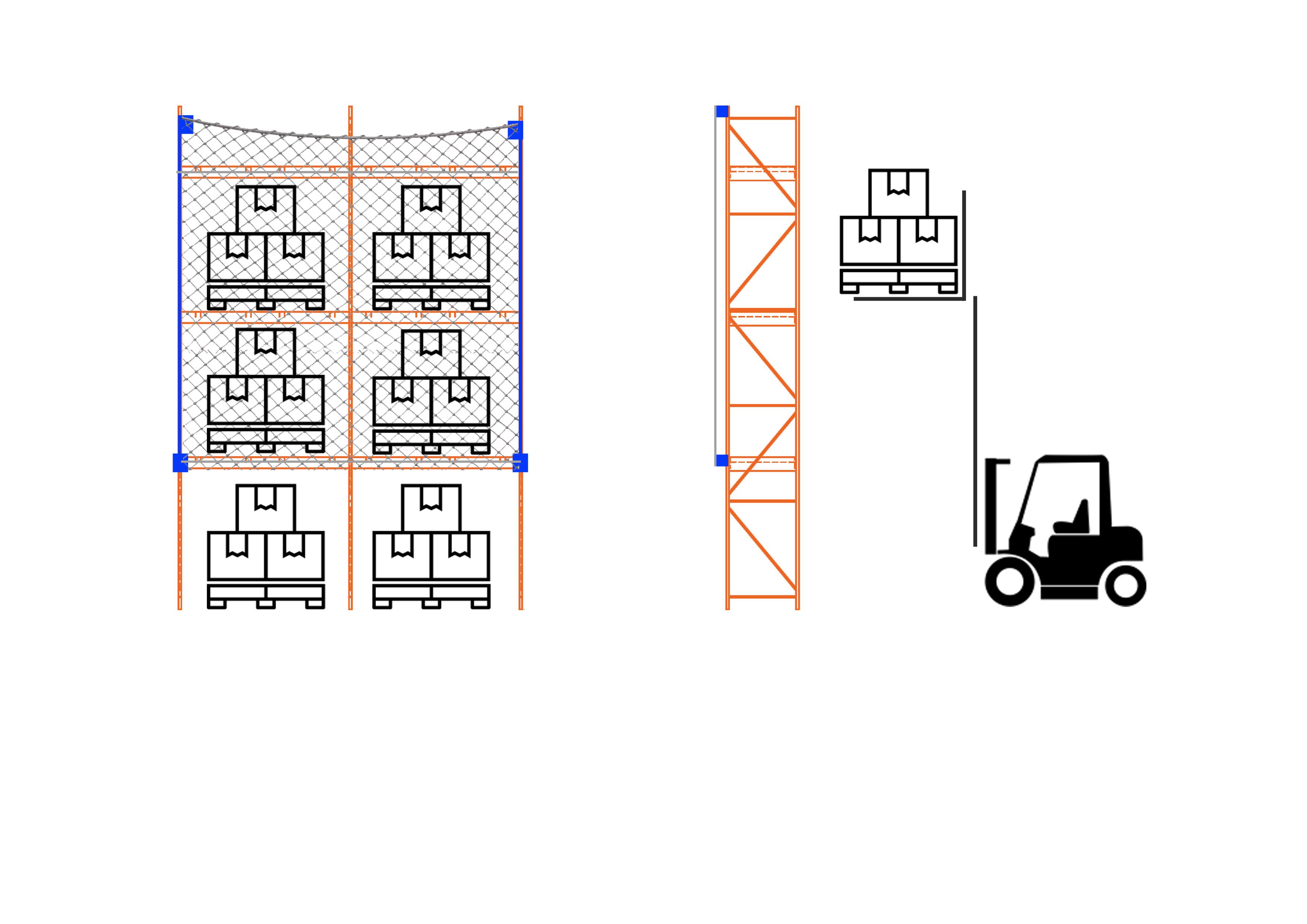 2 Bay Flushmount Rack Netting System