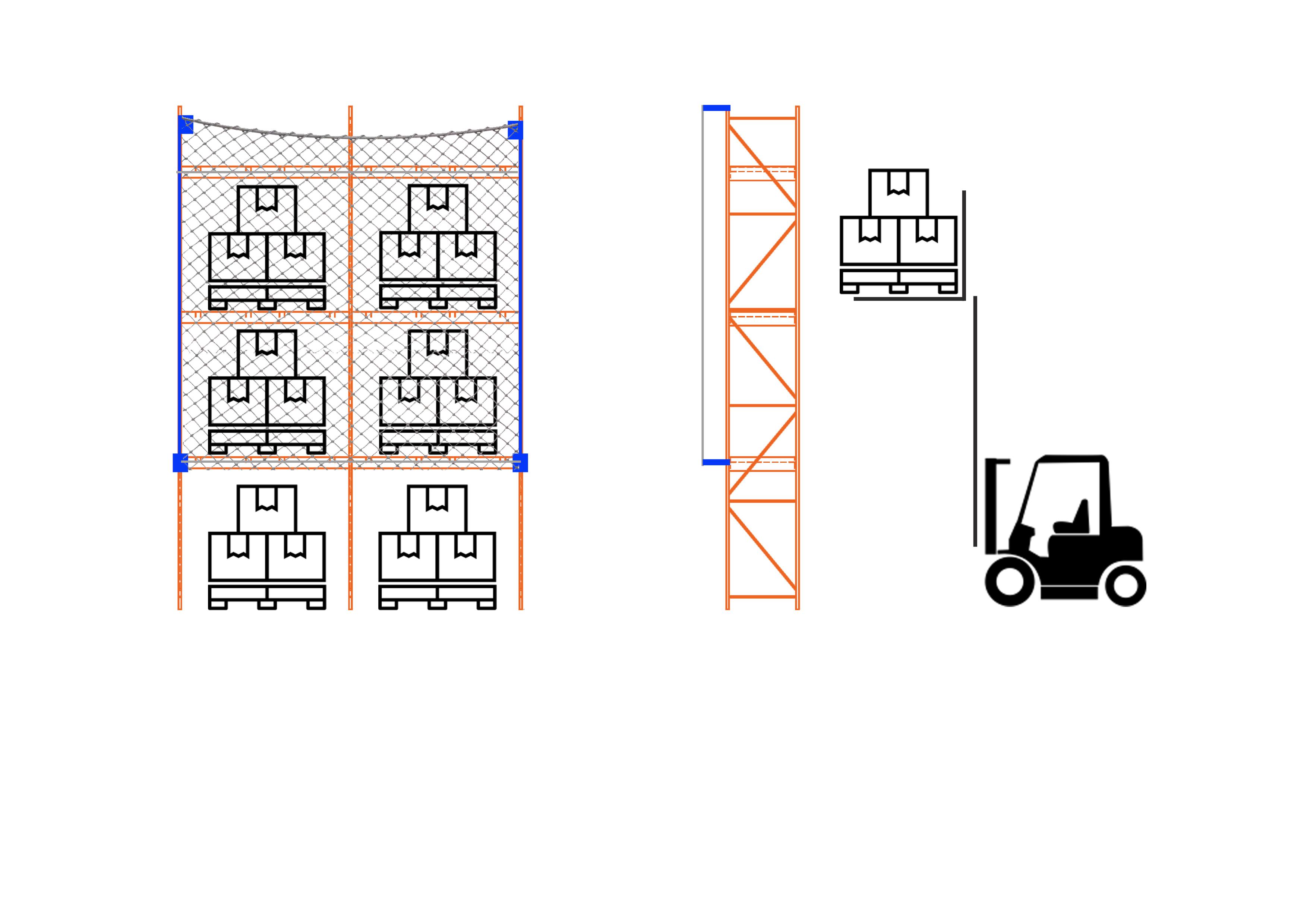 2 Bay Standard Offset Rack Netting