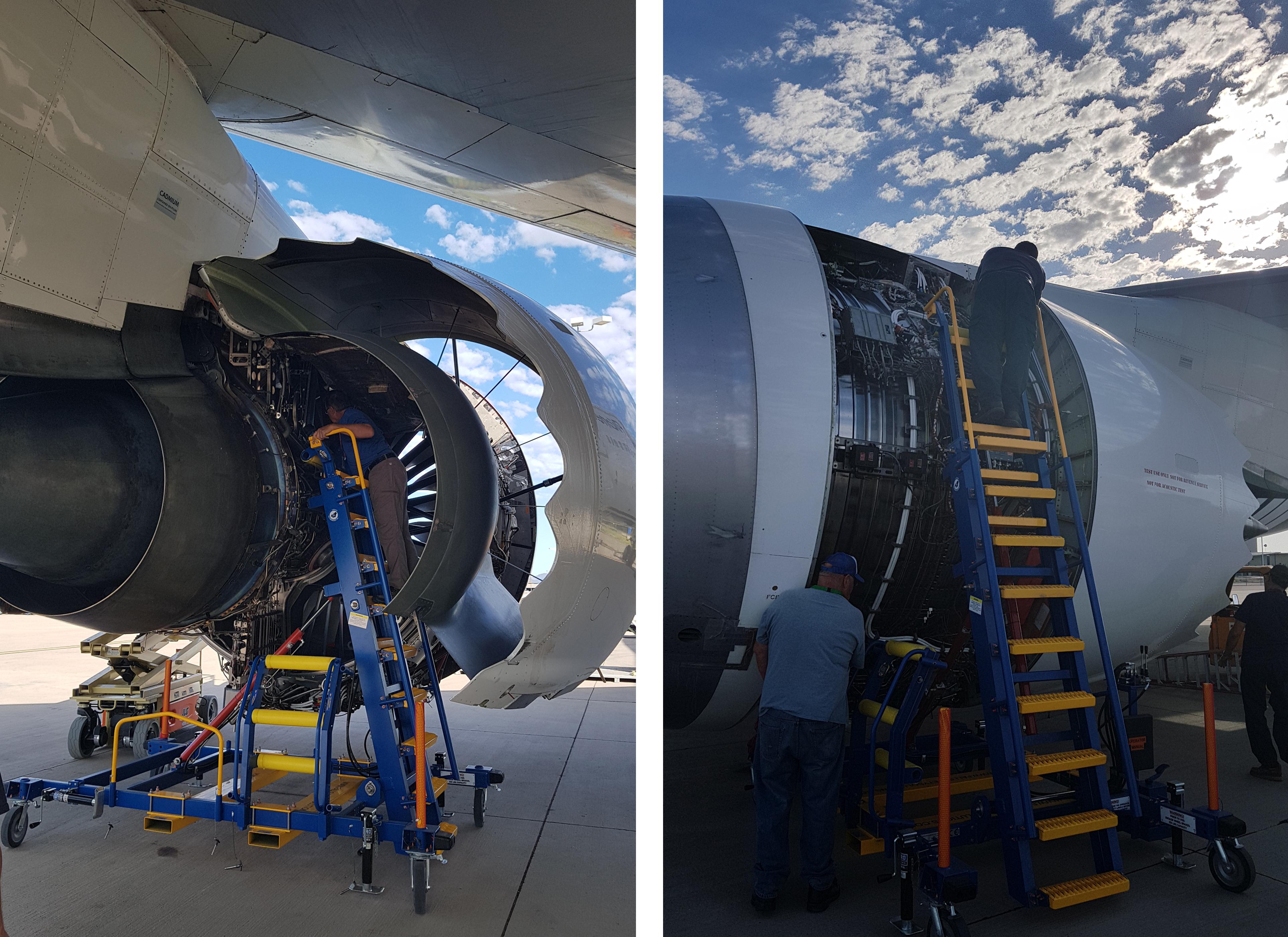 Aircraft Maintenance and Engine Access Stand 07-08 & IntelligentEngine