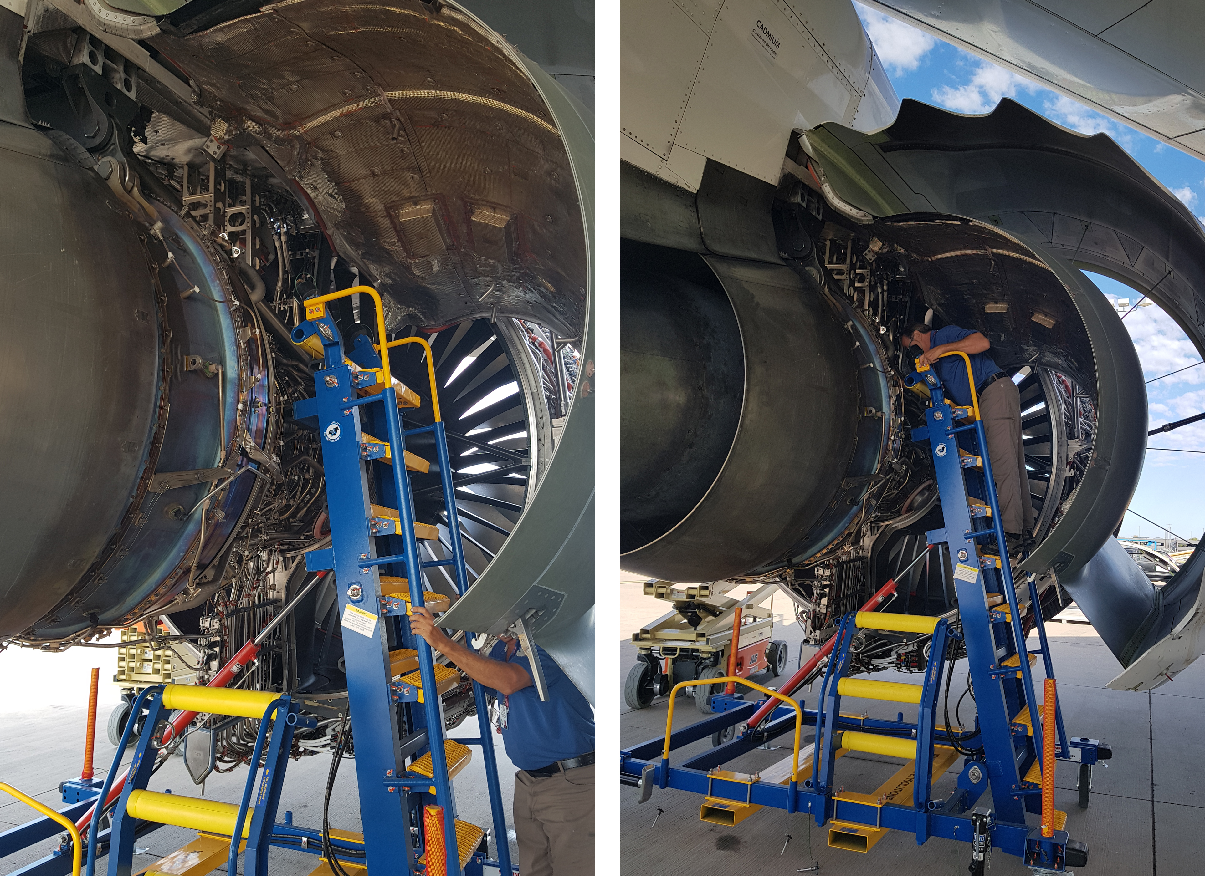Engine Access Stand and Rolls-Royce IntelligentEngine