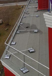 Custom Rooftop Guardrail