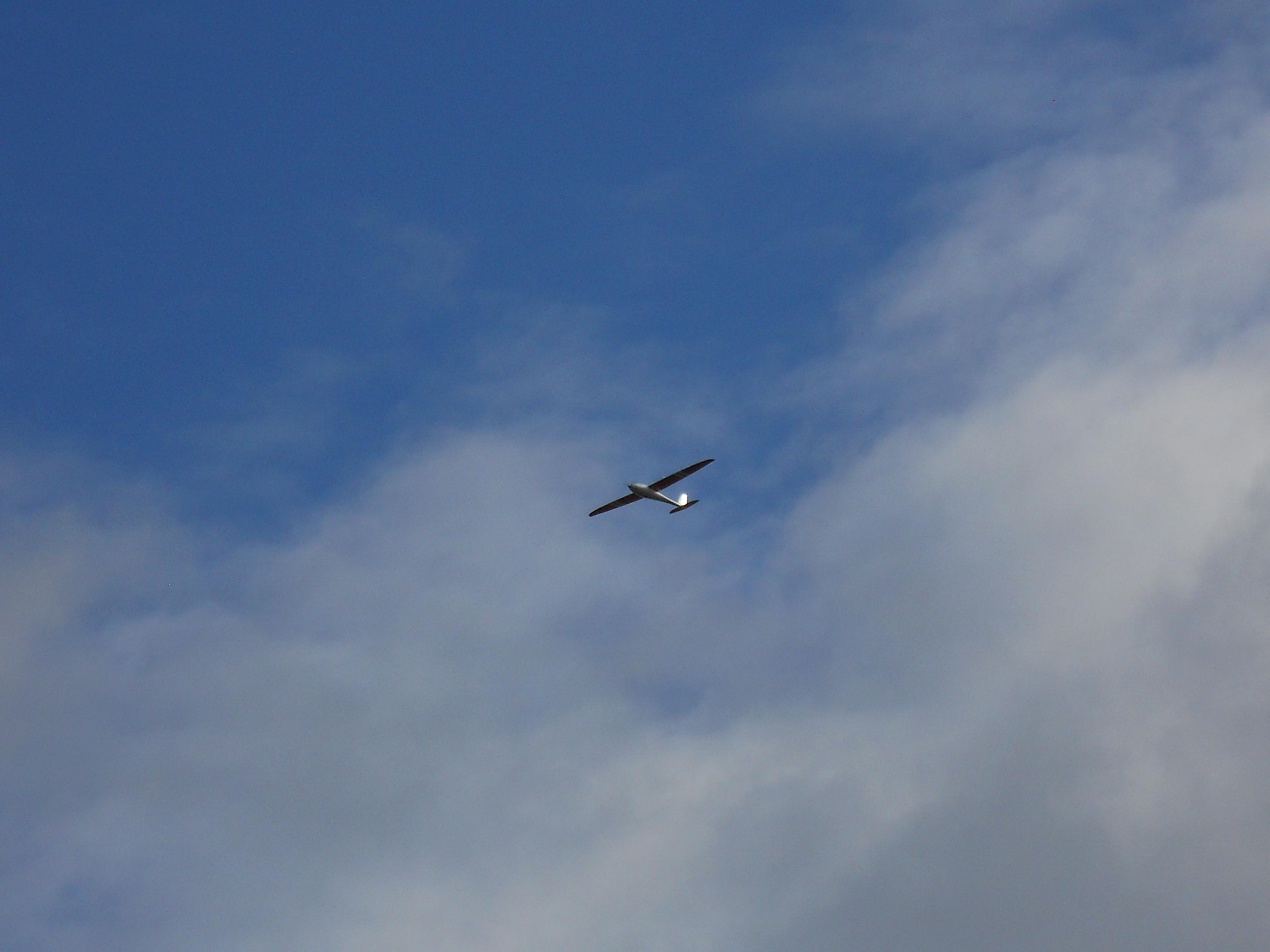 The UAV Flying Across the Site