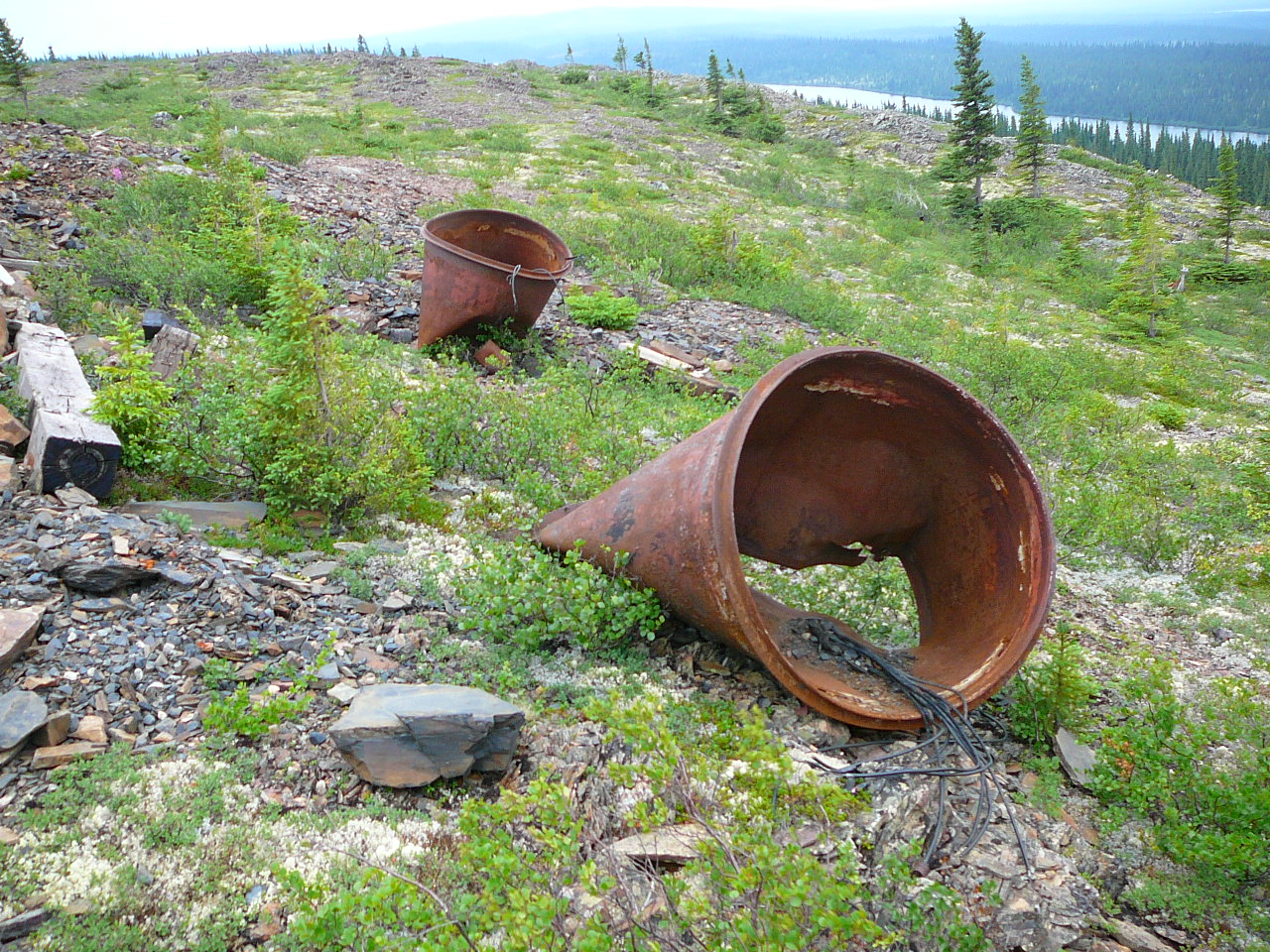 Contaminated site in Northern Quebec